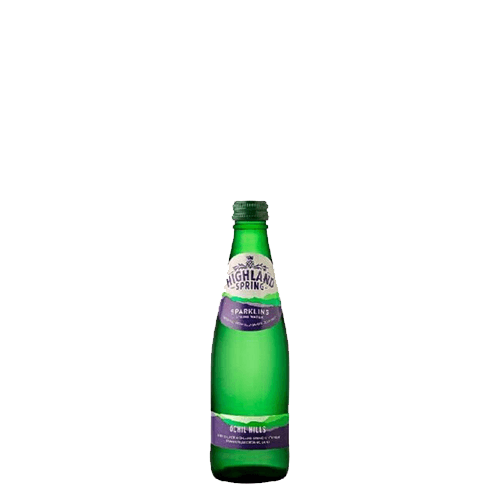 Highland Spring Sparkling Water, Glass 33cl