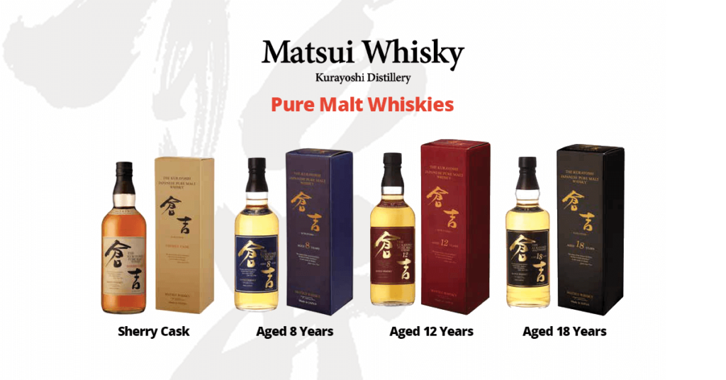 Pure Malt Japanese whiskies